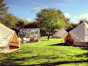 Bell tent hire Suffolk