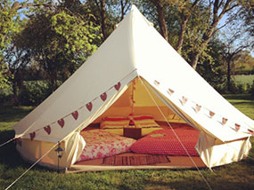 Bell tent hire glamping in Suffolk